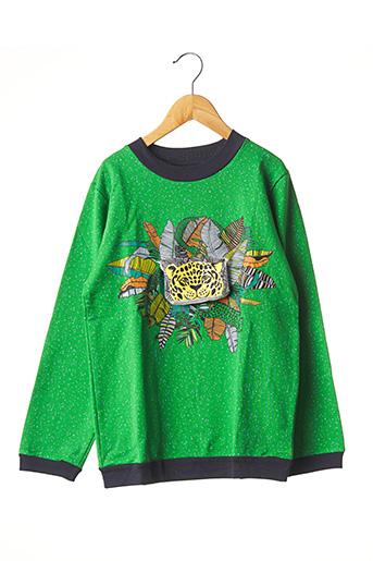 Sweat-shirt vert MILK ON THE ROCKS pour enfant