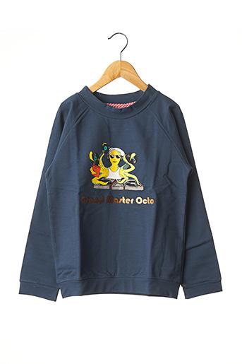 Sweat-shirt bleu MILK ON THE ROCKS pour garçon