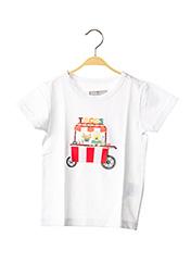 T-shirt manches courtes blanc MILK ON THE ROCKS pour enfant seconde vue