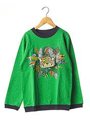 Sweat-shirt vert MILK ON THE ROCKS pour enfant seconde vue