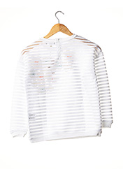 Sweat-shirt blanc MILK ON THE ROCKS pour fille seconde vue