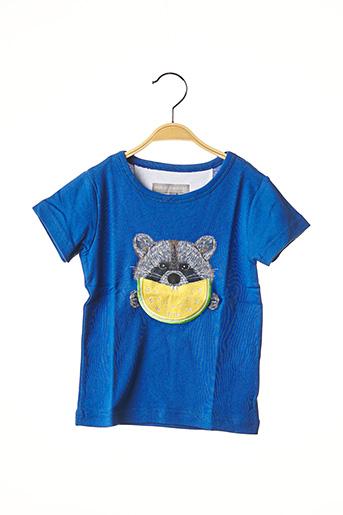 T-shirt manches courtes bleu MILK ON THE ROCKS pour fille