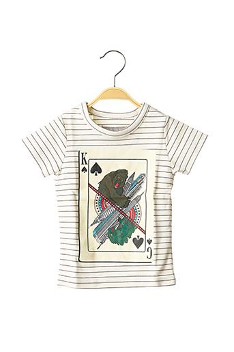 T-shirt manches courtes blanc MILK ON THE ROCKS pour garçon