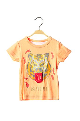 T-shirt manches courtes orange MILK ON THE ROCKS pour garçon
