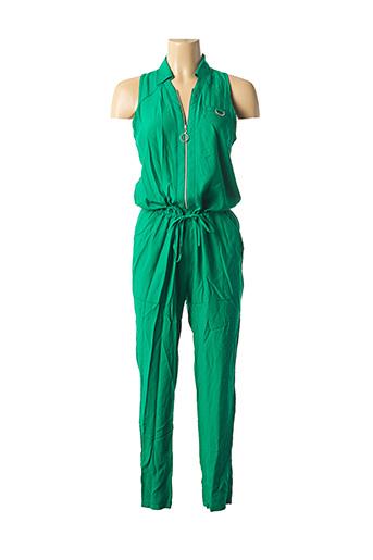 Combi-pantalon vert MADO ET LES AUTRES pour femme