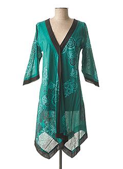Tunique manches longues vert ALLER SIMPLEMENT pour femme