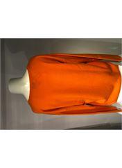 Pull col V orange ALLUDE pour femme seconde vue