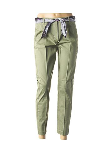 Pantalon 7/8 vert B.YOUNG pour femme