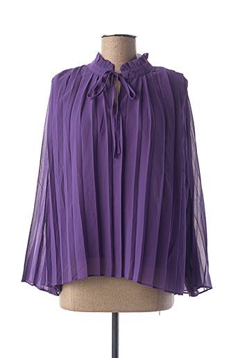 Blouse manches longues violet INSPIRATION STUDIO pour femme