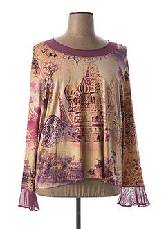 T-shirt manches longues rose FRANCOIE F pour femme