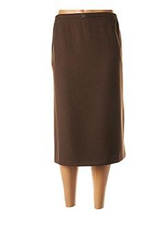 Jupe mi-longue marron CPH pour femme
