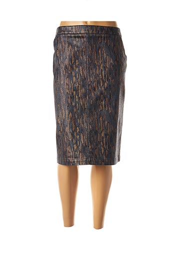 Jupe mi-longue bleu FRANK WALDER pour femme