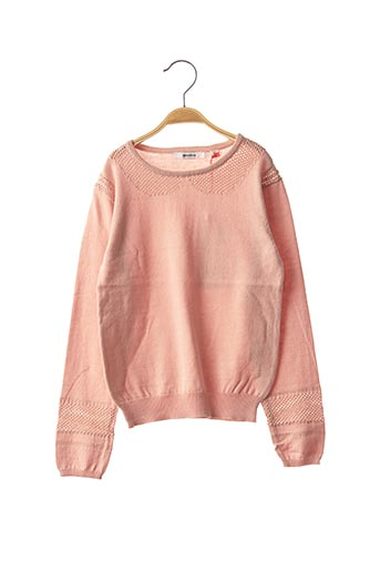 Pull col rond rose MARESE pour fille