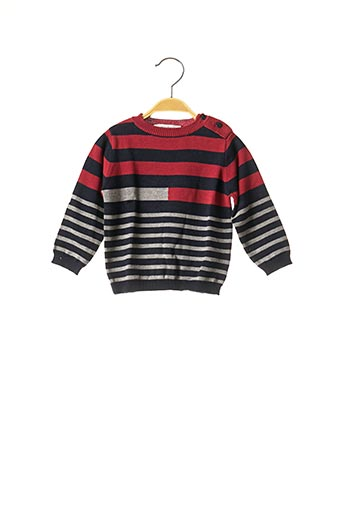 Pull col rond rouge MARESE pour enfant