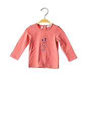 T-shirt manches longues rose MARESE pour fille seconde vue
