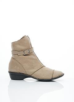 Bottines/Boots beige LUXAT pour femme