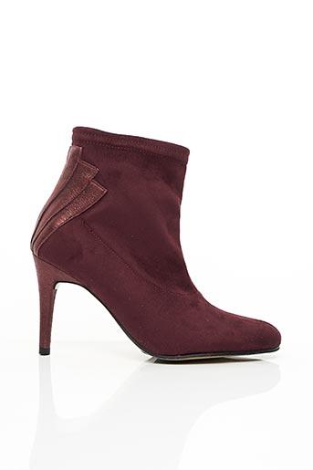 Bottines/Boots rouge ELIZABETH STUART pour femme