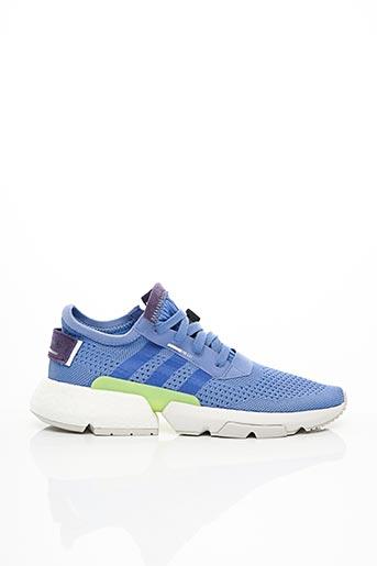 ADIDAS Baskets de couleur bleu en soldes pas cher 1538798-bleu00 - Modz