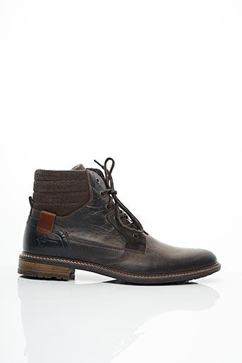 Bottines/Boots marron BULLBOXER pour homme