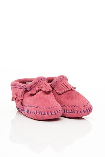 Chaussons/Pantoufles rose MINNETONKA pour fille