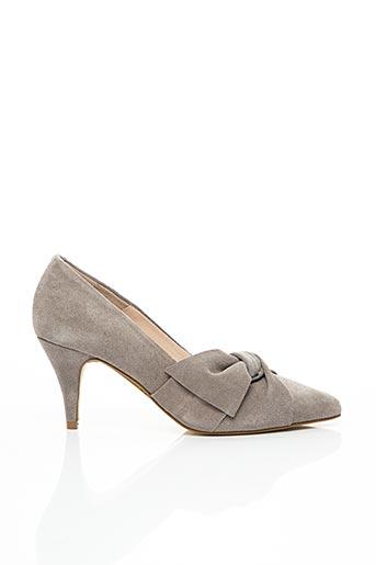 Escarpins gris BIANCO. pour femme