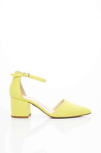 Escarpins jaune BIANCO. pour femme