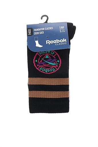 Chaussettes noir REEBOK pour unisexe