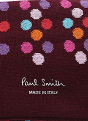Chaussettes rouge PAUL SMITH pour homme seconde vue