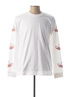 T-shirt manches longues blanc ADIDAS pour homme