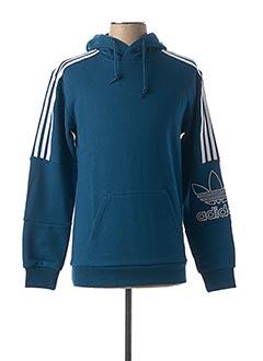 Sweat-shirt bleu ADIDAS pour homme
