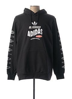 Sweat-shirt noir ADIDAS pour homme