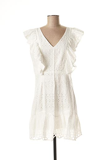 Robe mi-longue blanc EXQUISS'S pour femme