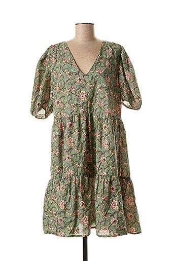Robe mi-longue vert AN' GE pour femme