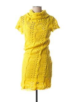 Robe pull jaune GALLIANO pour femme