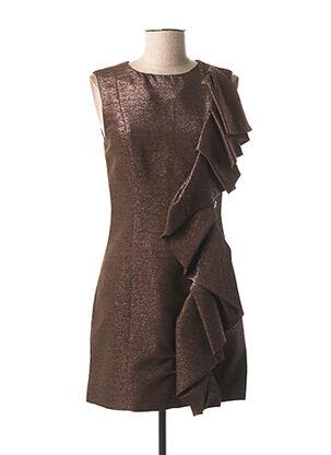 Robe courte marron GALLIANO pour femme