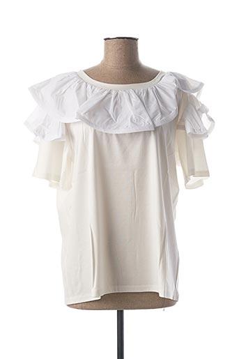 Blouse manches courtes blanc EDWARD ACHOUR pour femme