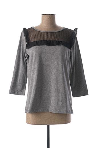 T-shirt manches longues gris ANNA RACHELE pour femme