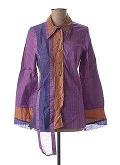 Chemisier manches longues violet SAVE THE QUEEN pour femme