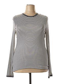 T-shirt manches longues gris MAXMARA pour femme