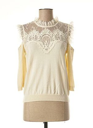 Pull col rond beige TWINSET pour femme