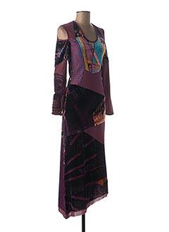 Robe longue violet SAVE THE QUEEN pour femme