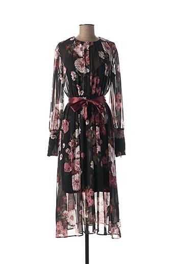 Robe longue noir I BLUES pour femme