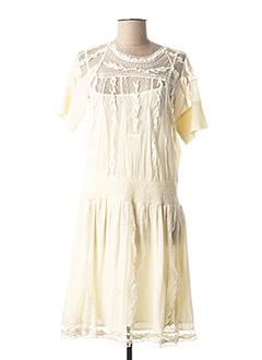 Robe mi-longue jaune TWINSET pour femme