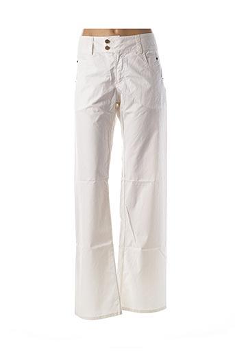 Pantalon casual blanc FERRE pour femme