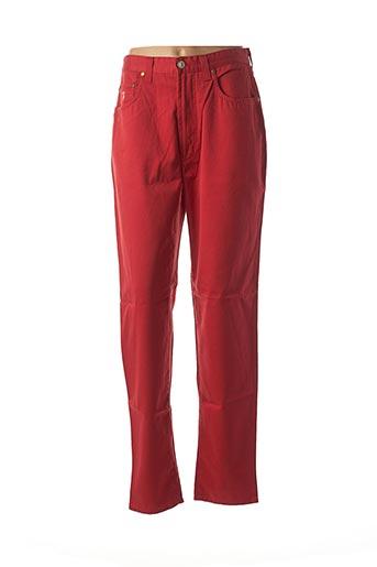 Pantalon casual rouge TRUSSARDI JEANS pour femme