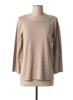 Pull col rond beige MAXMARA pour femme