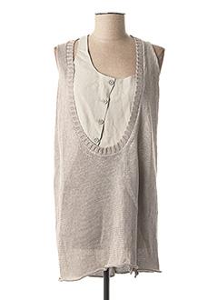 Pull tunique gris CREA CONCEPT pour femme