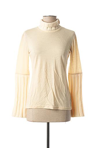 Pull col roulé beige KYUSO pour femme