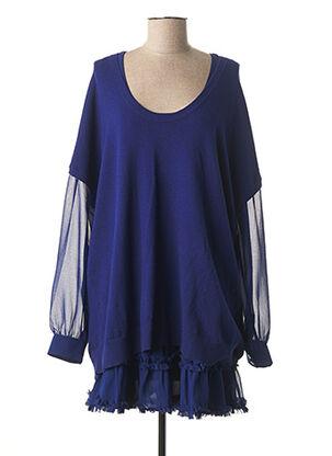 Pull tunique bleu TWIN-SET SIMONA BARBIERI pour femme