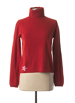 Pull col roulé rouge WEEKEND MAXMARA pour femme